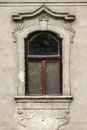Window of historical baroque house in Slovakia