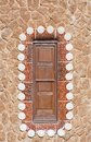 The window at home. Park Guell. Barcelona Royalty Free Stock Photos
