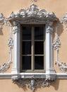 Window, House of Falcon in Wurzburg, Germany Royalty Free Stock Photo