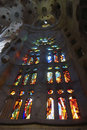 Window inside Sagrada Familia Stock Photography
