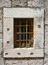 Window with iron bars Royalty Free Stock Photography