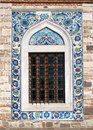 Window of the Konak Camii mosque Royalty Free Stock Image