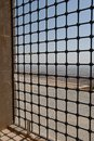 Window and mardin valley a view into the from a turkey Royalty Free Stock Photography