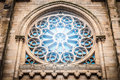 Window in medieval gothic style in Spain, Europe. Stock Photo