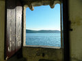 Window on the ocean Royalty Free Stock Photo