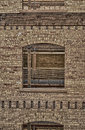 Window and the Old Brick Wall HDR 2 Royalty Free Stock Photo