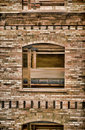 Window and the Old Brick Wall Painting Royalty Free Stock Photo