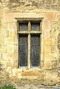 Window on old castle wall Royalty Free Stock Photo