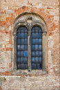 Window of the old Catholic church Royalty Free Stock Photo