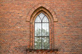 Window of the old church Royalty Free Stock Photo