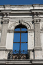 Window on an old palace in santiago in chile Stock Photo