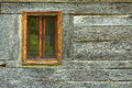 Window on old romanian traditional house