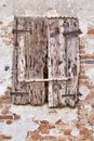 Window of an old ruined farmhouse Royalty Free Stock Photo