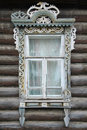 Window of an old Russian house Royalty Free Stock Photo
