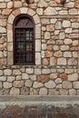 Window on old stone wall