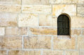 Window in old stone wall montenegro century Royalty Free Stock Photo
