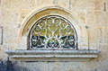 Window in old stone wall montenegro century Royalty Free Stock Image