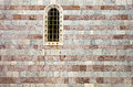 Window in old stone wall montenegro century Stock Photography