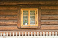 Window of a old wooden cottage Royalty Free Stock Photo