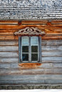 Window in old wooden house Royalty Free Stock Image