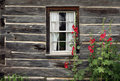 Window of an old wooden house Stock Images