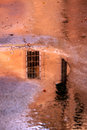 A window in the puddle Royalty Free Stock Image