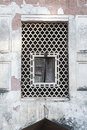 Window red fort dehli india arabic detals mosque in the Royalty Free Stock Photos