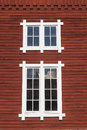Window on a red house Royalty Free Stock Images