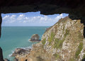 Window in the rock sark Royalty Free Stock Photo