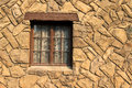 Window in a Rock Wall Royalty Free Stock Photo
