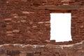 Window in a rubble wall Stock Photo