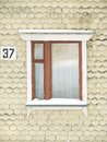 Window separate in home wood frame Royalty Free Stock Photos