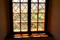 Window in the serf castle Royalty Free Stock Photo