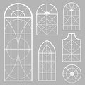 Window set a of various shapes Royalty Free Stock Images