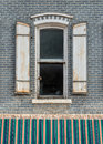 Window with shutters Royalty Free Stock Photo