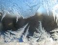 Window snow pattern Stock Photos