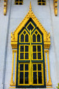 Window of sothorn temple in chachoengsao thailand beautiful Royalty Free Stock Photos