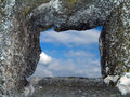 Window in stone wall Royalty Free Stock Image