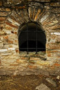 Window in Suceava's fortress ruins Stock Image