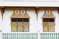 Window thai abstract at temple Royalty Free Stock Photos