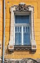 Window in timisoara romania city banat region of timis county beautiful old residential architecture Royalty Free Stock Photo