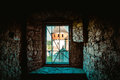 Window to the middle ages in ukraine Royalty Free Stock Photography