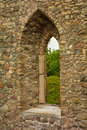 Window to the past an old castle in sigulda through which we feel Stock Photography