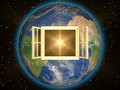 Window to space Royalty Free Stock Photo