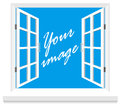 Window vector this is file of eps format Royalty Free Stock Images