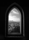 Window view of Ljubljana in Slovenia Stock Images