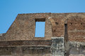 Window in wall of roman coliseum exterior ancient rome Stock Photos