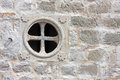 Window on the wall round without casements stone Royalty Free Stock Images