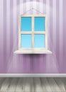 Window on the wall. Vector Illustration