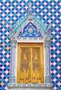 The window of wat phrakaew is decorate to thai art of wat phrakaew inside grand palace bangkok thailand Royalty Free Stock Photos